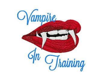 Vampire Embroidery Design - Vampire Teeth Embroidery Design - Halloween Saying Embroidery Design - Halloween Vampire - Kids Embroidery