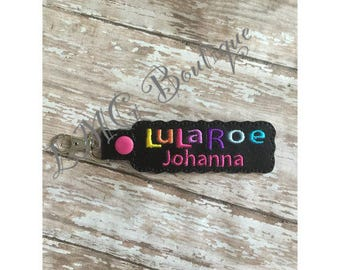 Lularoe Keyfob Personalized LuLa key chain,  LuLa key fob