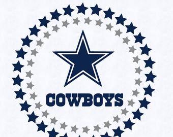 dallas cowboys circle logo svg, dallas cowboys logo dxf, clipart, vector, cut file, cricut silhouette, studio file