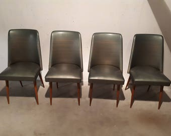 Set of 4 mid century chairs