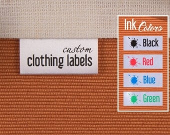 100 Custom Sewing Labels, Clothing Tags, White Satin Labels, Folded Fabric Tags, Garment Labels, Clothing Tags, 100% Washable, Delivered CUT