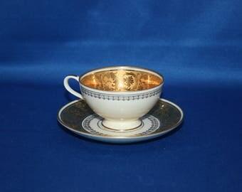 Vintage Gold Thomas Rosenthal Germany Small Golden China Tea Cup & Saucer demitasse set