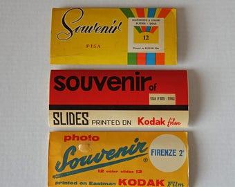 Vintage color slides from Italy - Firenze, Tivoli & Pisa - Kodak Negative Films - Souvenir Italy photography - Italian decor - Sepia photos