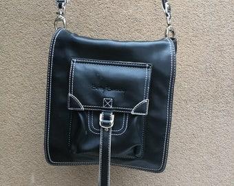VINTAGE BETTY BARCLAY Handbag, Vintage Messanger, Betty Barclay bag black bag