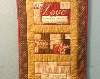 Live, Laugh, Love Quilted Wall Hanging
