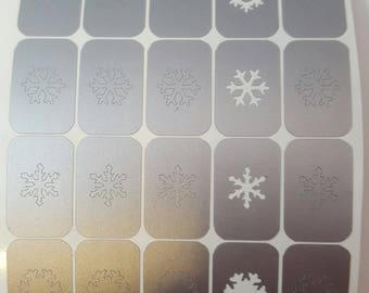Snowflake Decals / Nail Vinyls Winter Christmas