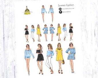 Summer Fashion Sticker Set
