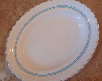 Vintage oval plate