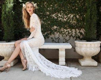 Slit wedding dress | Etsy