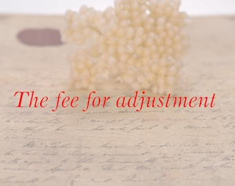 The extra cost for making a small adjustment. Available for any jewelry,wedding engagement rings,pendants,earrings.