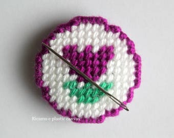 Magnetic Needle Minder, Tulip, Cross Stitch, Embroidery, Needle Keeper, Needleminders, Needlework, Needle Holder, Sewing, Women Gift, Magnet