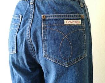 Vintage 1970s Calvin Klein high waist jeans made in USA W 27'