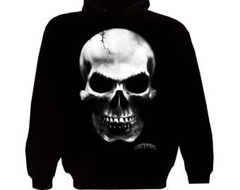 Big skull zipper Hoodie