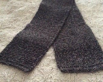 Black Knitted Scarf #1