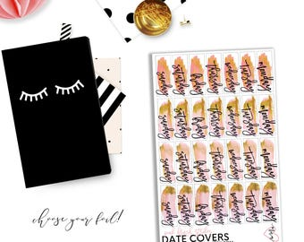 Foiled Date Covers - Pink Brush Stroke