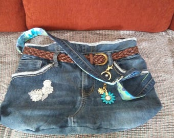 Blue Jean Denim purse