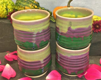 Wildflower Tea/Wine Cups (Bundle of 4)