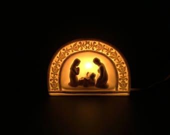 New Porcelain Nativity Nightlight