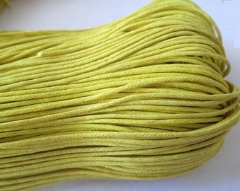 5 Metters yellow waxed cotton wire 1.5 mm