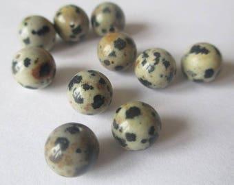 10 beads natural stone Dalmatian Jasper 8mm