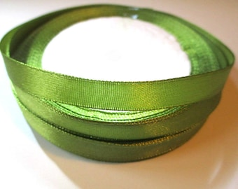 23 m 10mm reel color olive green satin ribbon
