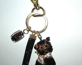 """""""Doggie"""" bag charm ღ ღ gold & Black unique!"""