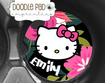 Hello Kitty Car Coasters, Personalized Car Coaster, Cup Holder Coaster