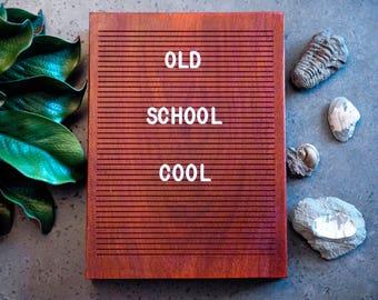 Wooden Letter Board 9x12 - Padauk - Letterboard, Message Board, Felt Board, Modern Farmhouse, Modern Cabin, Natural, Handcrafted, Wood