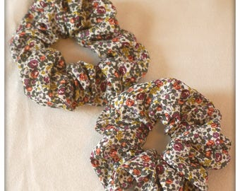 scrunchie in genuine Liberty Eloise plum