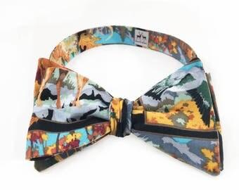 Paint Me, Deer Butterfly Bow Tie