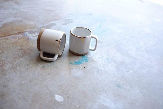 Gold Rim Mug