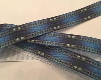 """Denim Print Grosgrain Ribbon 5/8"""""""