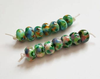 Blended Beads - Frit Beads - Frit Lampwork - Lampwork Beads - Glass Beads - Mini Bead Sets - Monet - Lampwork Glass - Waterlilies - UK Made