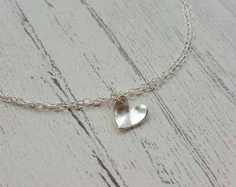 Heart Bracelet - Silver Heart Bracelet - Silver Bracelet - Sterling Silver - Bridal Bracelet - Wedding Jewellery - Bridesmaid Bracelet - UK