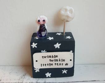 Twinkle Little Star Gift - Childs Keepsake Gift - Twinkle Twinkle Present - Lampwork Glass Keepsake - Baby Shower Gift - New Baby Gift