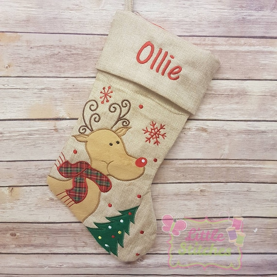Personalised christmas stocking First Christmas Stocking1st