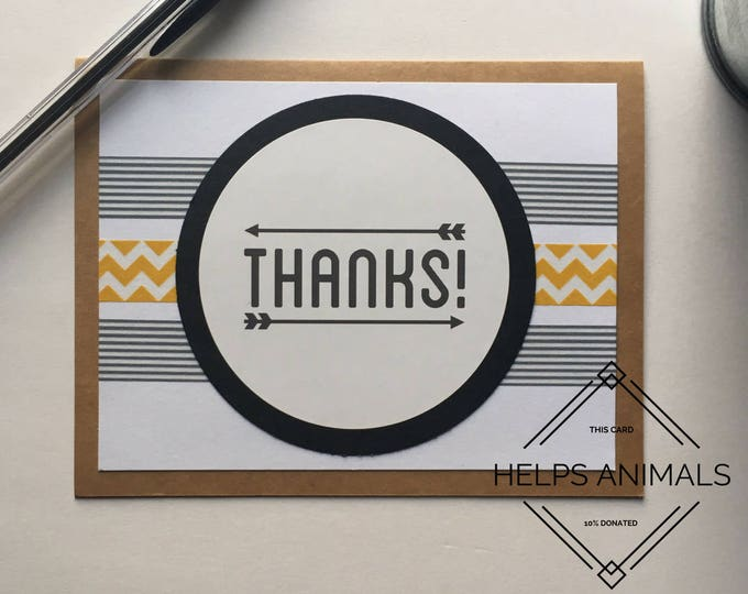 Arrows Thank You Card | Tribal Thank You Card | Aztec Thank You Card | Blank Thank You Card | Modern Thank You Card