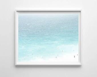 Beach decor PRINTABLE art, Tropical art, ocean water wall art, ocean photography, coastal decor, beach print, ocean waves print