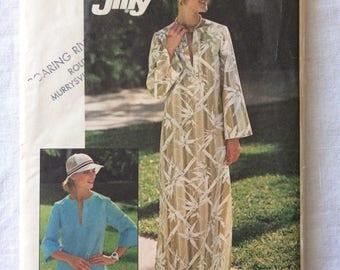 Vintage 1976 UNCUT Simplicity 7521 Misses Size 10 Bust 32-1/2 Caftan or Top Pattern
