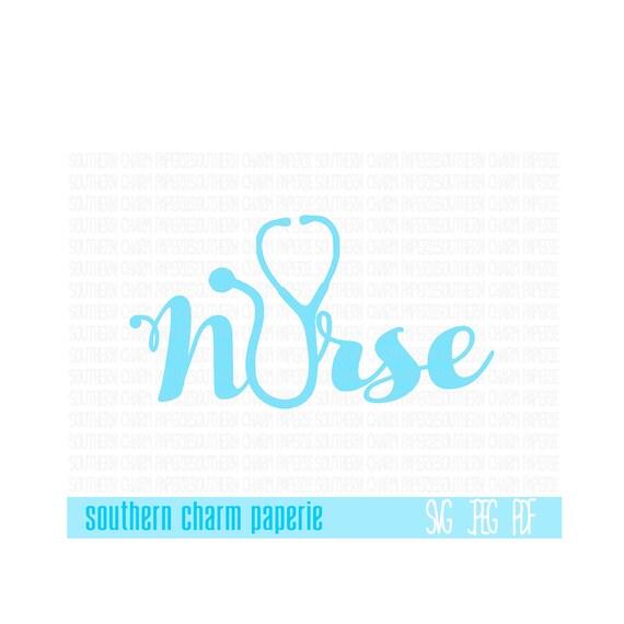 NURSE Stethoscope SVG Cut File Medical RN Registered Nurse Licensed Medic Hospital Nursing Profession Cutting