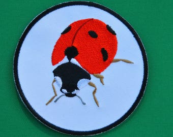 embroidered Ladybug patch