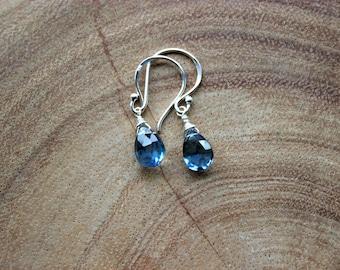 London Blue Topaz Pear Briolette Earrings and/Briolette Earrings