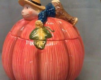 Pumpkin Harvest Cookie Jar