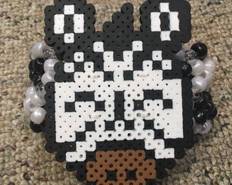 Zebra black & white kandi cuff bracelet