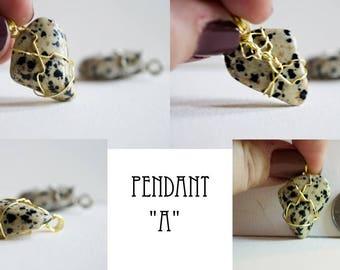 Dalmatian Jasper Pendant