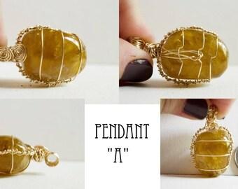 Honey Calcite Pendant
