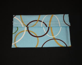 Blue wallet with circle design