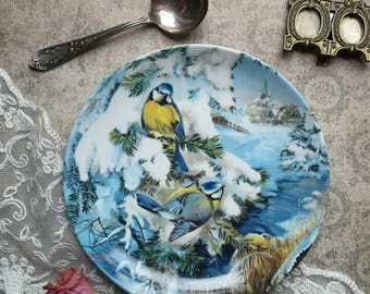 Collectible plate, vintage, Hutchenreuter, German porcelain, Ursula Band, home decor,