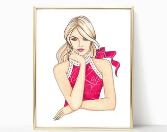 Ready for Inspiration - Fashion Illustration (Print) - Pink - Blonde