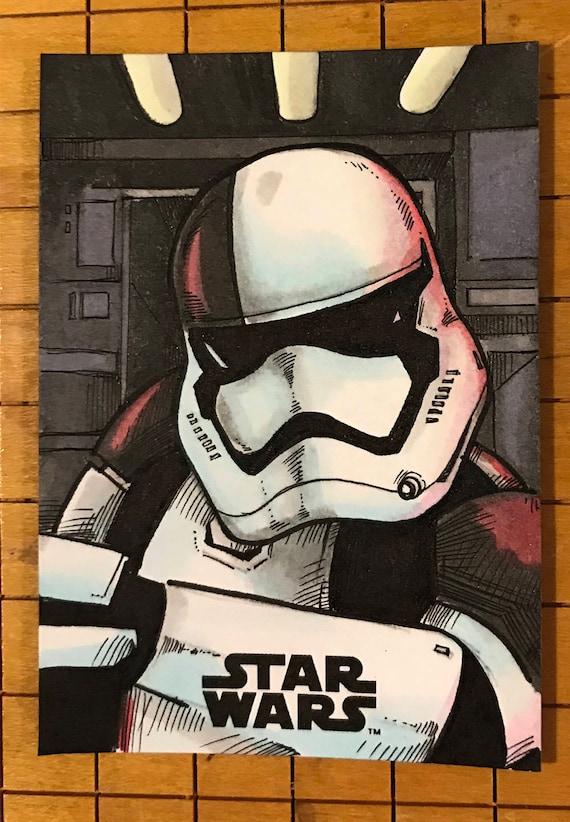 Last Jedi Original Artist Sketch Card: Stormtrooper